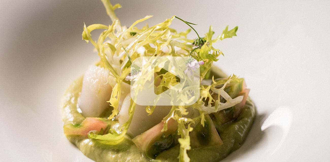 Salpicón de merluza, aguacate y manzana verde