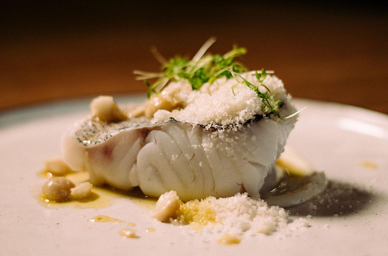 Merluza Austral Chile - Recetas del chef - Merluza con puré de coliflor